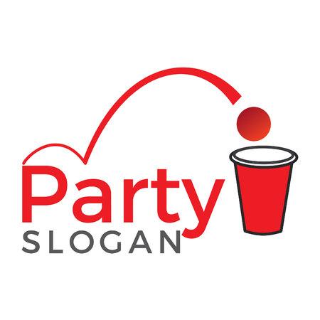 Beer Pong Party vector logo design. Beer pong sport and championship design. Illustration