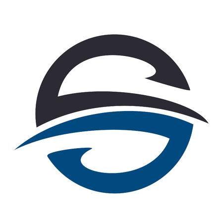 Letter S logo icon design template elements. Ilustração