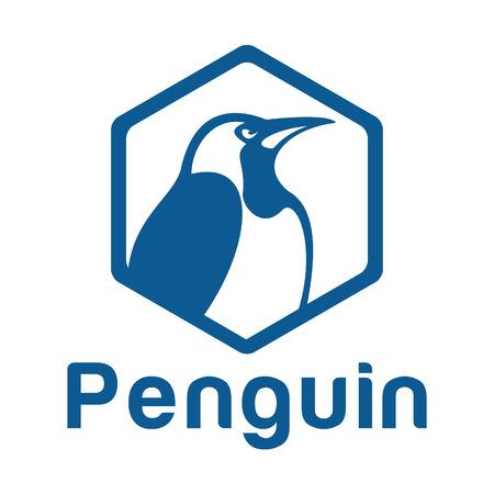 Penguin icon design template.