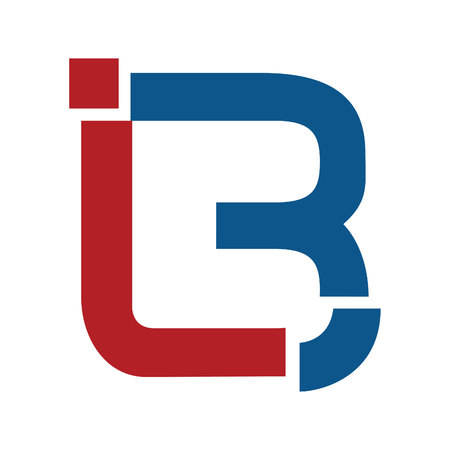 Letter i and b icon design template.
