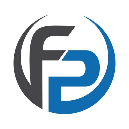 FP Lettre entreprise logo vecctor design.