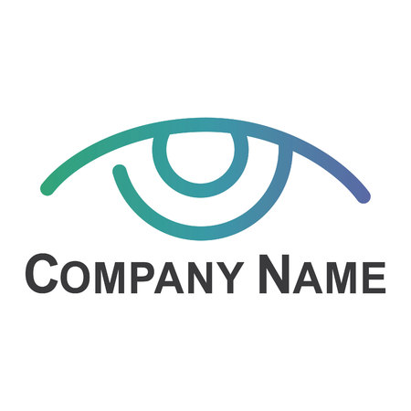 Eye logo design idea. Minimalistic logo design layout for medical care. Illustration