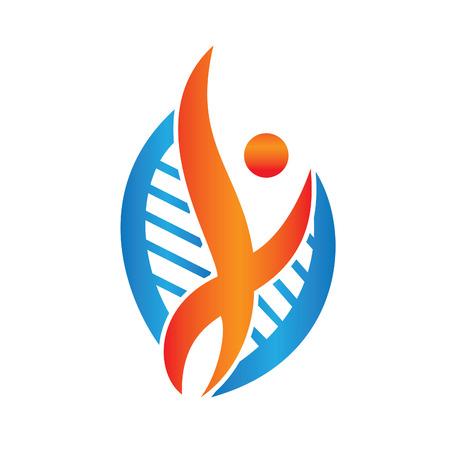 Therapeutic and Holistic health center icon design. Illustration