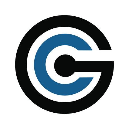 CG Modern Letter Logo Design Template.