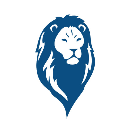 Lion head logo vector, lion king head sign concept. Banco de Imagens - 92417719