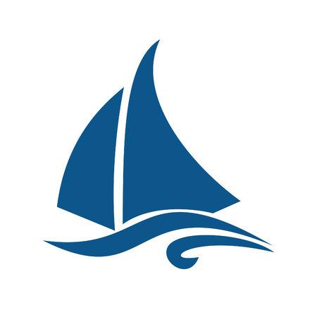 Sailing ship  logo design. Yacht logo.