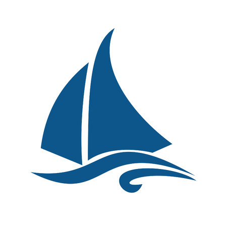 Sailing ship  logo design. Yacht logo.