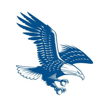 Falcon Bird Logo abstract design vector template. Flying Eagle Hawk logotype concept icon