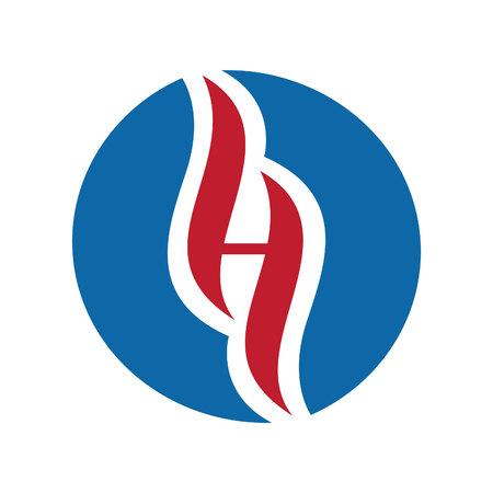 Letter H holistic vector logo design. Holistic center logo symbol vector Illustration for business emblem, alternative medicine, homeopathy, holistic medicine center Illustration