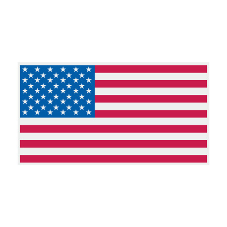 American flag logo design.