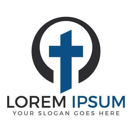Cross  logo design template. Calvary cross church. Template logo for churches and Christian organizations cross. Illustration