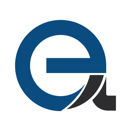 E and A or e and a Modern business Letter logo design. Illustration