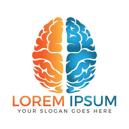 Design de logotipo de vetor de cérebro criativo. Pense o conceito de ideia.