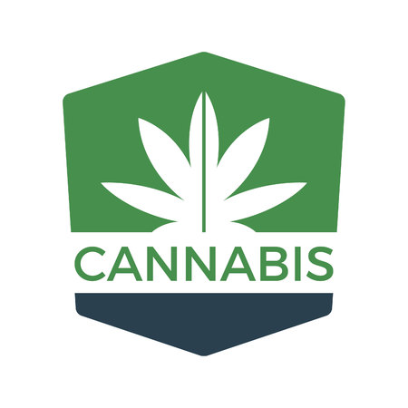 Cannabis or marijuana green vector leaf.