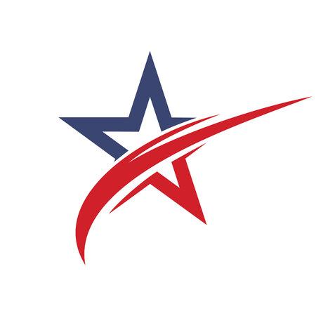 Star logo design. Leader boss star, winner, star rating, rank. Star astrology symbol.