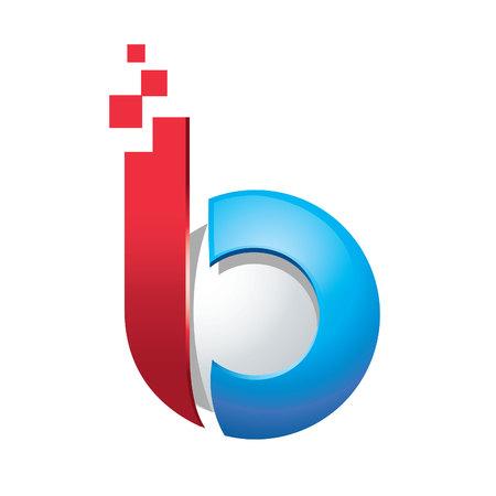 Zakelijke zakelijke letter B 3d logo ontwerp vector.