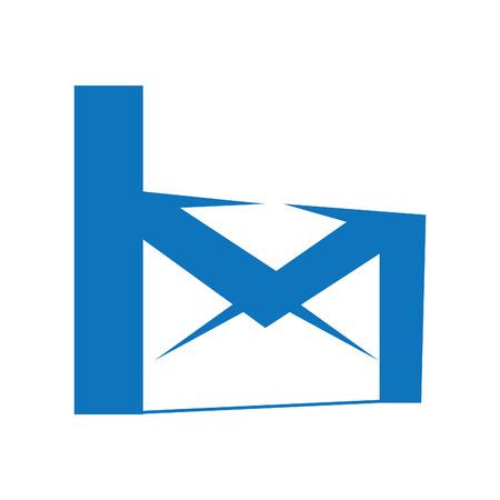Creatief postembleemontwerp. Kleur mail logo ontwerp. Mail bedrijfslogo concept.