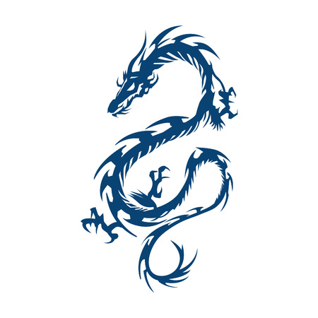 Dragon vector ontwerp. Stock Illustratie