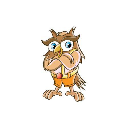 Owl mascot character vector illustration design.