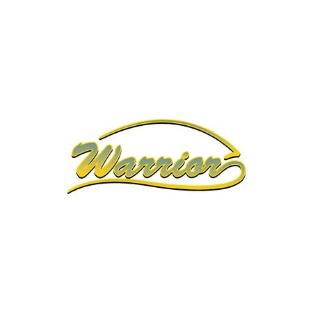 Warrior lettering in modern vector logo design. 向量圖像