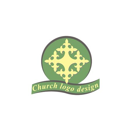 Cross logo design template. Calvary cross church.