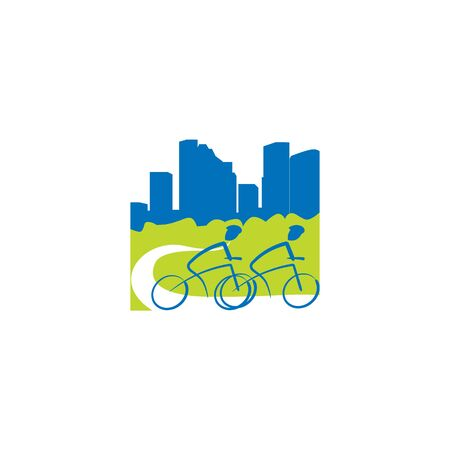 Bicycle Building City Logo Template.