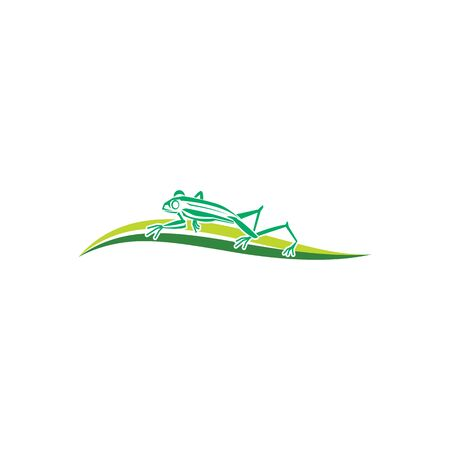 Vector of frog design on white background. Amphibian. Animal. Frog logo or Icon.