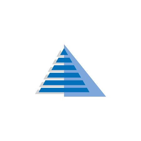 Pyramid tech logo vector design.