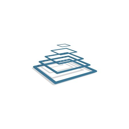 Disposition des symboles de service en verre. Les fenêtres et les écrans réparent le concept de conception de logo créatif. Ventes, réparations et installations. Vitrage résidentiel, commercial et automobile. Coupe-verre.