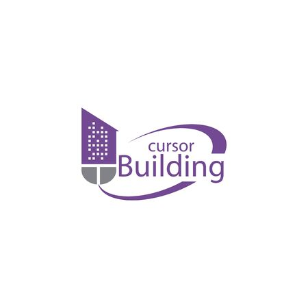 Mouse Building Logo Design. Building Click Logo Design Template.