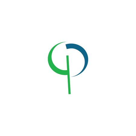 Creative Abstract Letter QP Logo Design. 向量圖像