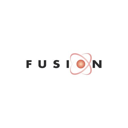 Vector abstract logo design for business. Fusion sign.