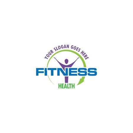 Fitness logo. Sport logo. Healthcare logo.