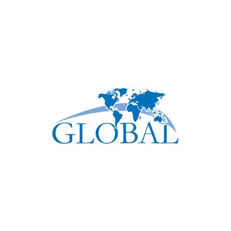 Global vector logo design. Creative travel logo design.