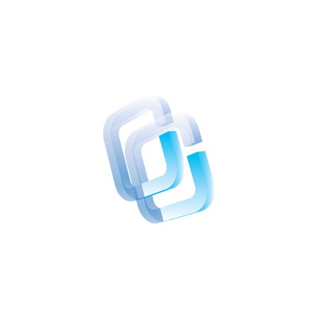 Creative Abstract Letter CC Logo Design.