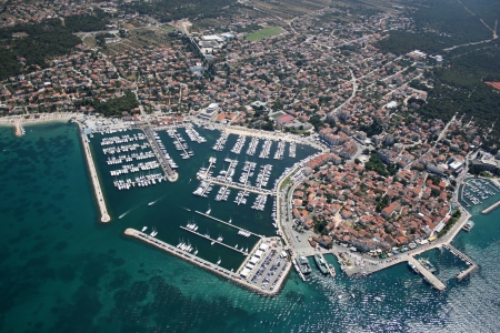 Biograd na moru, Adriatic sea, Croatia - Aerial photo  photo
