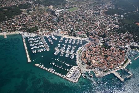 na: Biograd na moru, Adriatic sea, Croatia - Aerial photo  Stock Photo