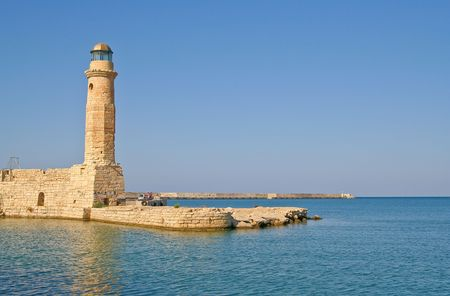 Old lighthouse in Rethymno in the island of Crete