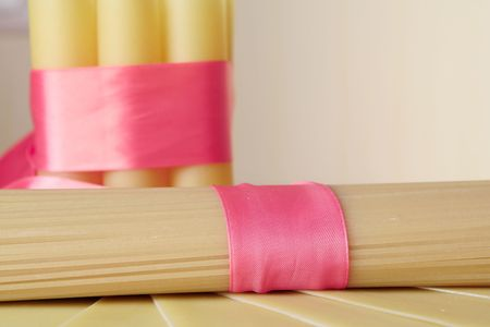 pasta and cannelloni in rose tape