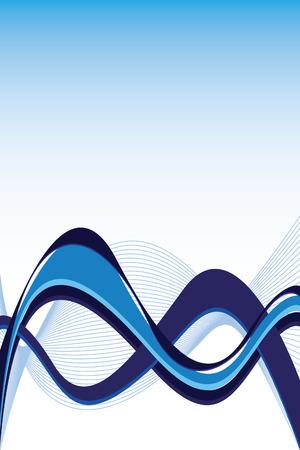 fresh blue wave Illustration