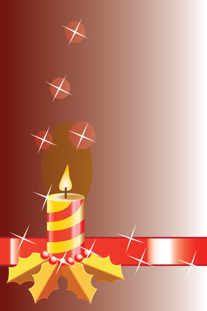 Background with Christmas candle Vector