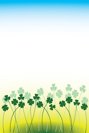 simple background with clover