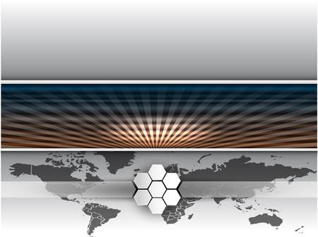 Vector abstract banners. Map and line photo