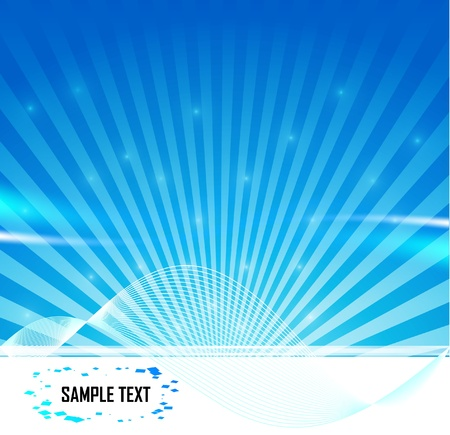 Vector abstract banners. Blue wave and line Stock Photo - 10449703