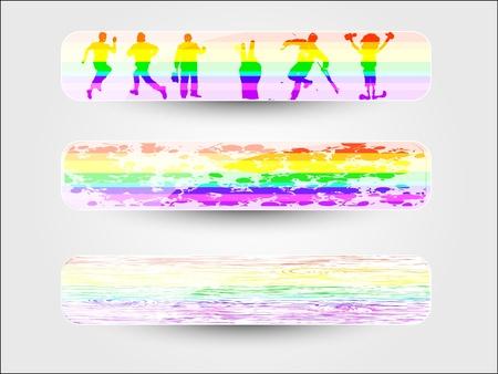Web abstract banner. Rainbow header Stock Photo - 10449707