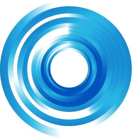 abstract circle and wave. Vector