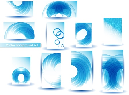 Abstract Blue Template and Set