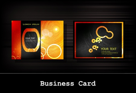 black business card set Stock Vector - 12332805