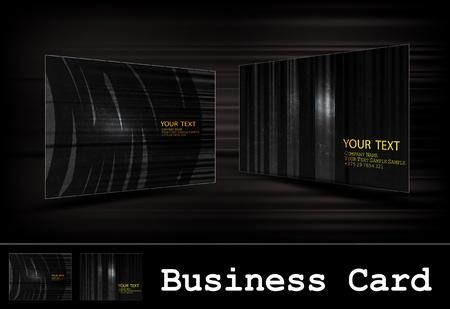 black business card set