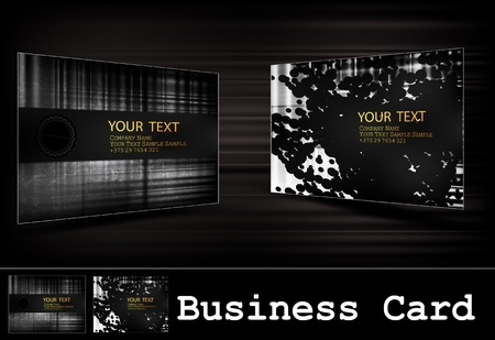 bright card: black business card set
